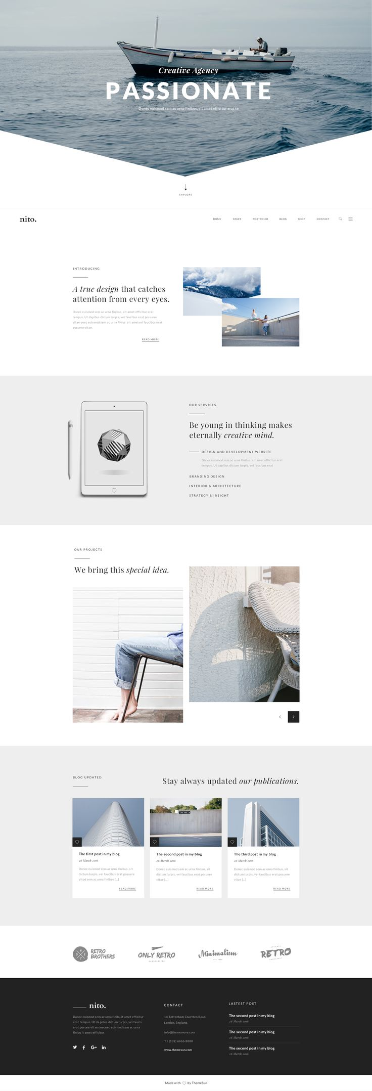 Nito - A Clean & Minimal Multi-purpose PSD Template • Download ➝ https://themeforest.net/item/nito-a-clean-minimal-multipurpose-psd-template/16694474?ref=pxcr