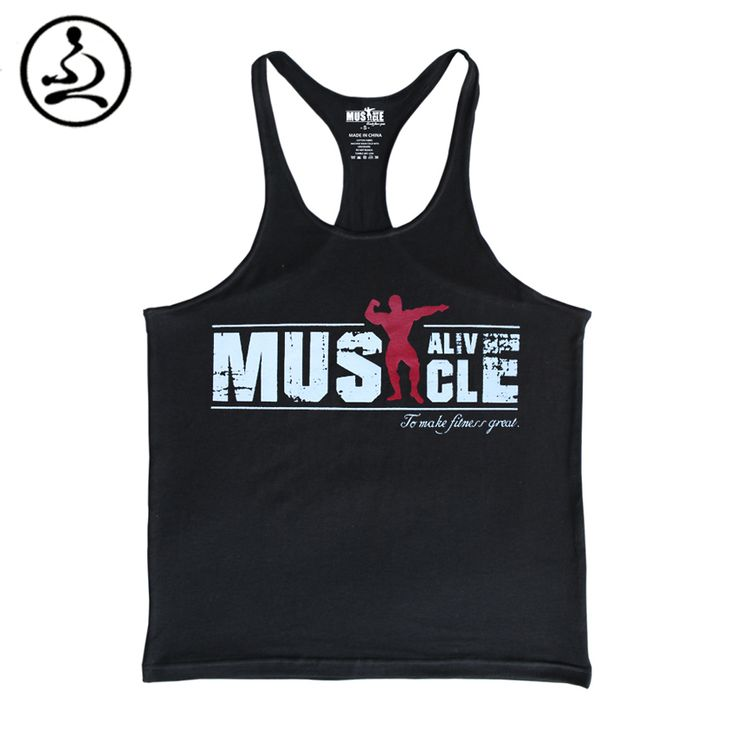 Bodybuilding Tank Top Men Gyms-Clothing Stringer Fitness Gyms Shark Shirt Brand Clothing Muscle Workout Cotton Regatas Masculino