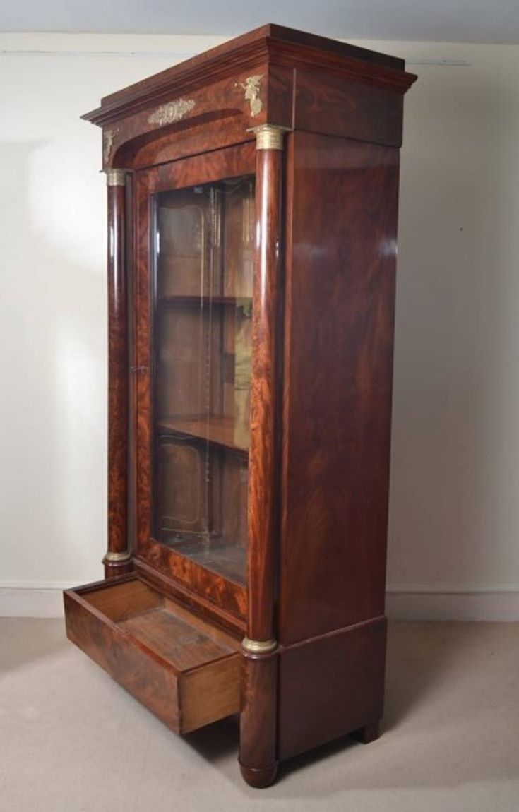 Antique French Empire Mahogany Bookcase c.1820 | From a unique collection of antique and modern bookcases at https://www.1stdibs.com/furniture/storage-case-pieces/bookcases/