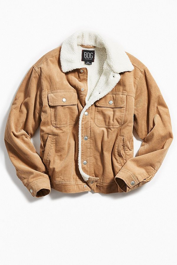 1080230799a Slide View  1  BDG Corduroy Sherpa Trucker Jacket