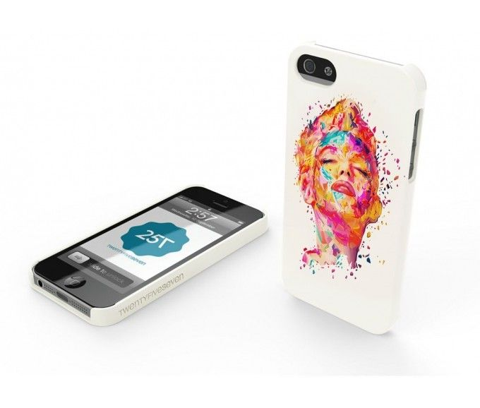 New TwentyfiveSeven Slim Hard Case WHITE in Limited Edition by Kaneda. #Marilyn