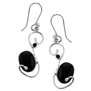 Tianguis Jackson Silver and Onyx Swirl Earrings http://www.qualitysilver.co.uk/Jewellery/Tianguis-Jackson-Silver-and-Stone-Set-Earrings.html