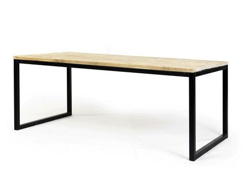 Tafel Olav | Staal Frame | Industrieel tafel op maat woodville