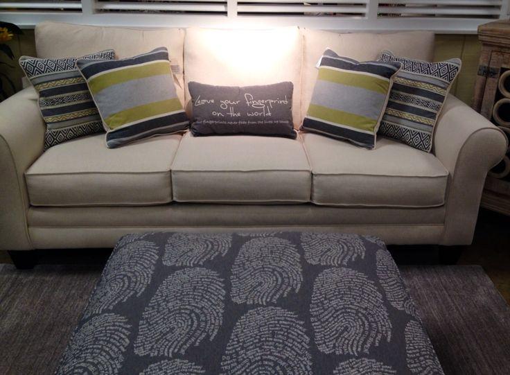 Sofa With Fingerprint Ottoman   Miskelly Furniture   Miskelly Furniture    Pinterest   Ottomans