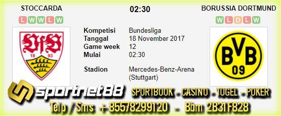 Prediksi Skor Bola Stoccarda vs Borussia Dortmund 18 Nov 2017 Bundesliga di Mercedes-Benz-Arena (Stuttgart) pada hari Sabtu jam 02:30 live di Fox Sport 1