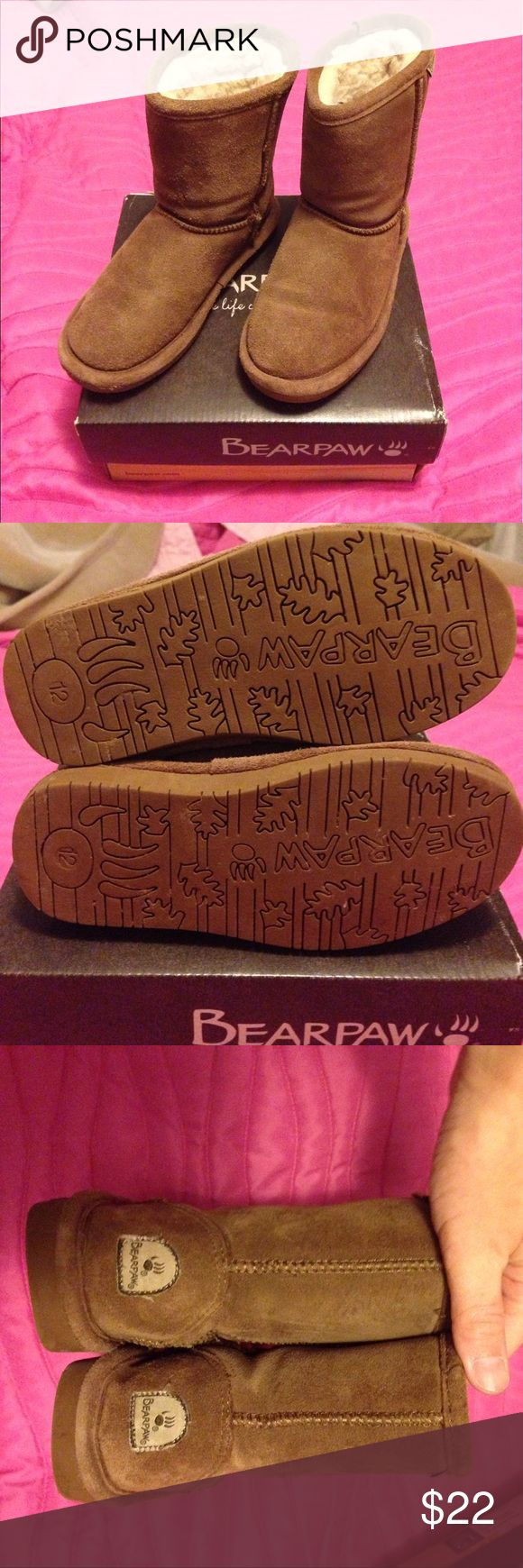 BearPaw Emma Toddler Size 12 EUC worn for one winter but not a whole lot ; sprayed with BearPaw water repellent; the color is 608T/Hickory II. Offers welcome. BearPaw Shoes Boots