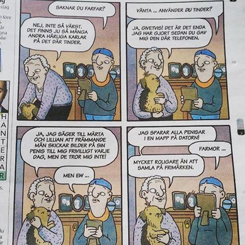 Den äldre generationen och Tinder. #lillaberlin #metro #tinder