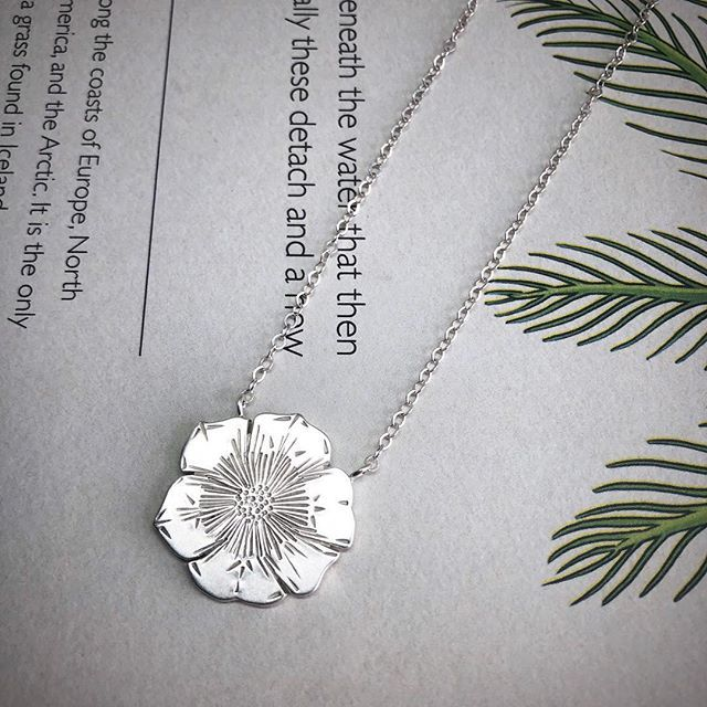 This Anemone Necklace Started Out As A Sheet Of Thick Silver Which I Sawed Out Then Stamped Using The Hammer And Custo Hand Stamped Jewelry Steel Stamp Silver