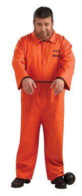 Plus Size Orange Prisoner Jumpsuit Costume 46 to 52