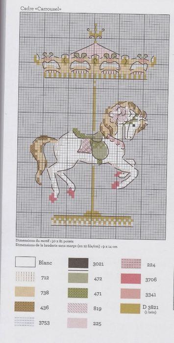Французская лошадка-карусель. Схема. Обсуждение на LiveInternet - Российский Сервис Онлайн-Дневников