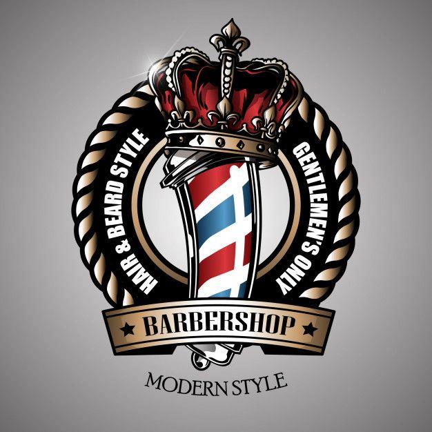 Retro barber pole logo Premium Vector   Premium Vector #Freepik #vector #background #logo #vintage #hand