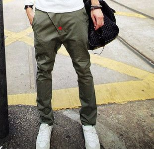 2012 olive harem pants male pants men's casual pants male trousers male , Free Shipping-in Pants from Apparel & Accessories on Aliexpress.com