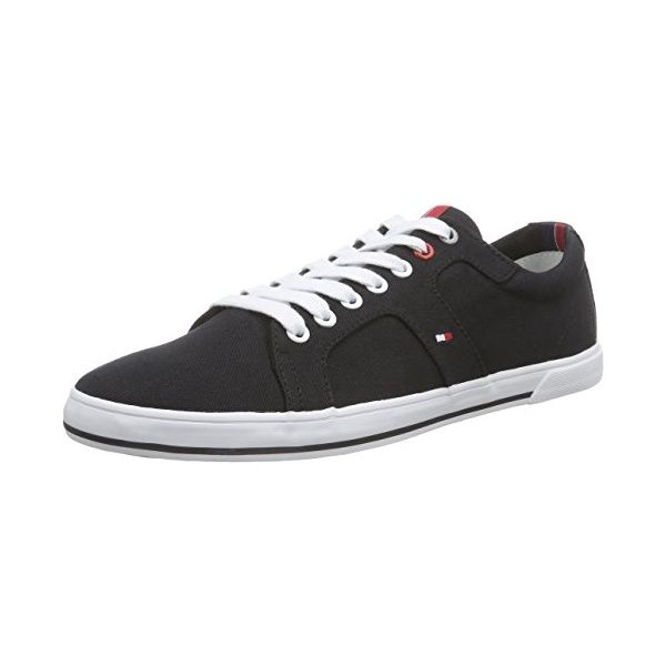 Casual Suede Low Cut Sneaker, Sneakers Basses Homme, Bleu (Midnight 403), 41 EUTommy Hilfiger