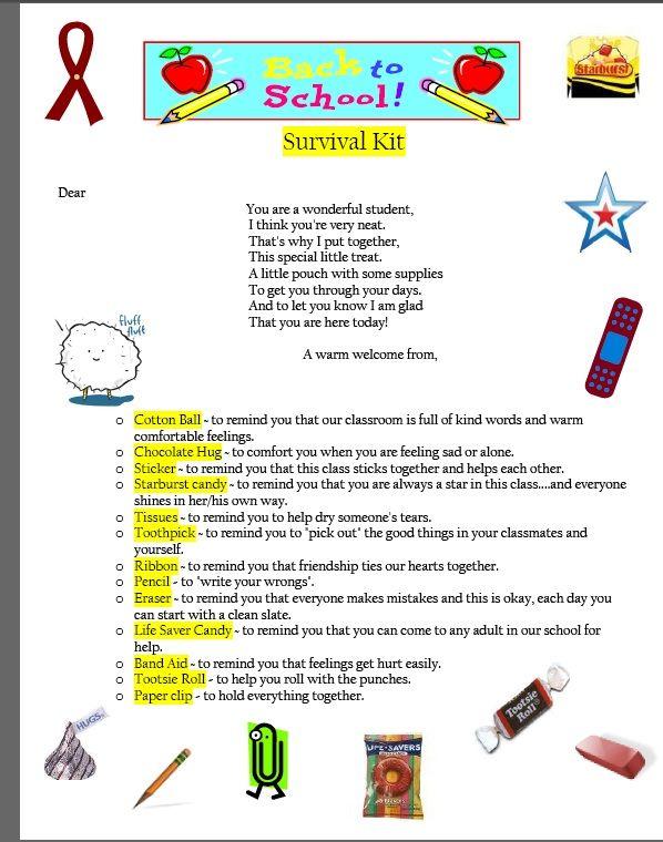 Teachingisagift: Back to School survival kit for students