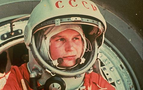 RUSSIAN SPACE FIRSTS ~ Valentina Tereshkova was the first woman to go into space. She flew Vostok 6 in 1963, spending almost three days in space and orbiting Earth 48 times.