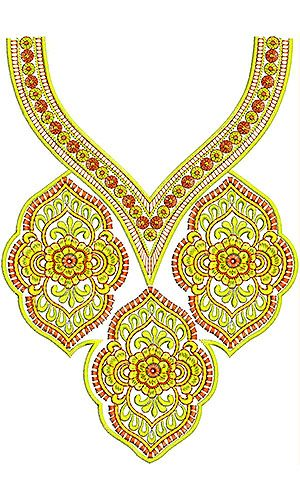 Kalotaszeg Embroidery Design | Neck Yoke Gala