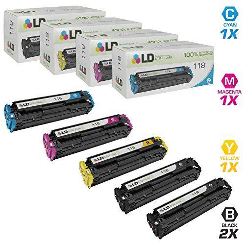 LD Compatible Canon 118 Set of 5 Toner Cartridges Includes: 2 2662B001AA Black, 1 2661B001AA Cyan, 1 2660B001AA Magenta, and 1 2659B001AA Yellow #Compatible #Canon #Toner #Cartridges #Includes: #Black, #Cyan, #Magenta, #Yellow