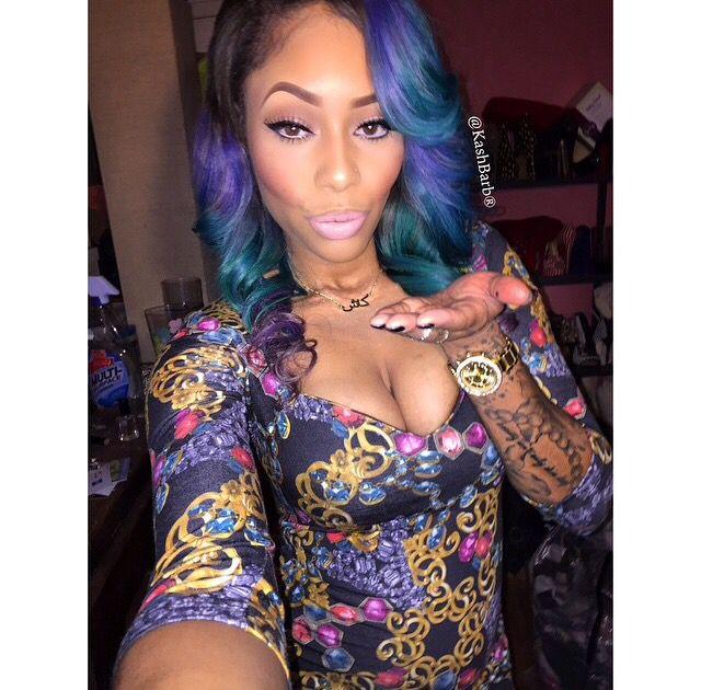 Green Blue Purple Wavy Ombre Hair Weave Hairstyle Black Beauty Women Caramel Dope Fashion Statement Trend Swag Pretty Kashbarb Instagram Flawless Makeup Tattoo