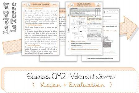 Sciences CM2 : Volcans et séismes – La leçon et l'évaluation @