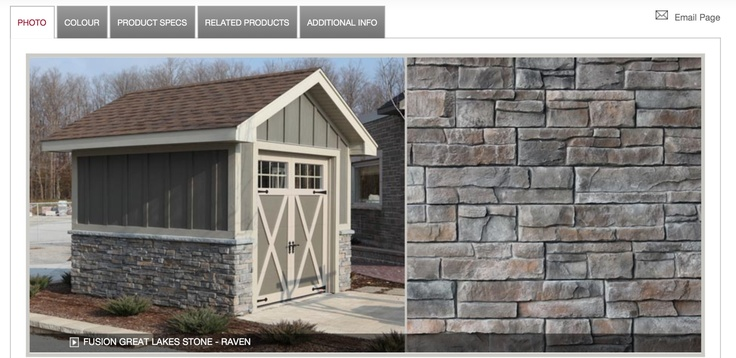 Diy stone exterior with fusion stone avail at home depot for Exterior building products