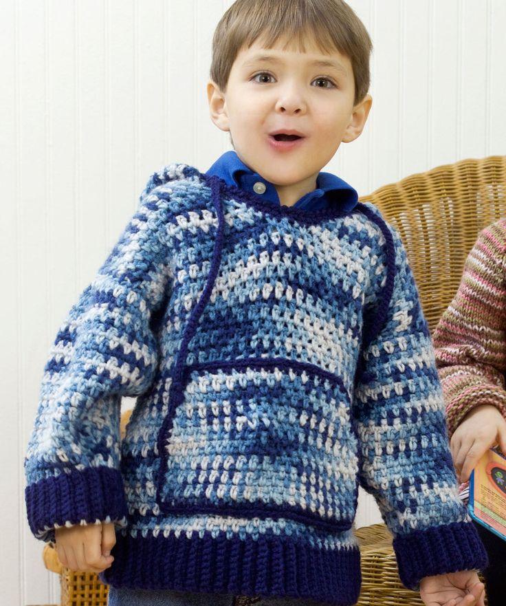 Crochet Child's Hooded Sweatshirt - Free Pattern
