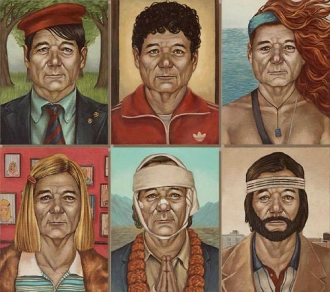 Never mind that Bill Murray is already a go-to actor for Wes Anderson films. Fine artist Casey Weldon wondered 'What if it could be all Murray, all the time?', and went on to paint the dude as the other Wes Anderson characters that he didn't actually play. It's what happens when Bill Murray invades Wes Anderson films and takes over everything. We'd like to see a Jason Schwartzman version.