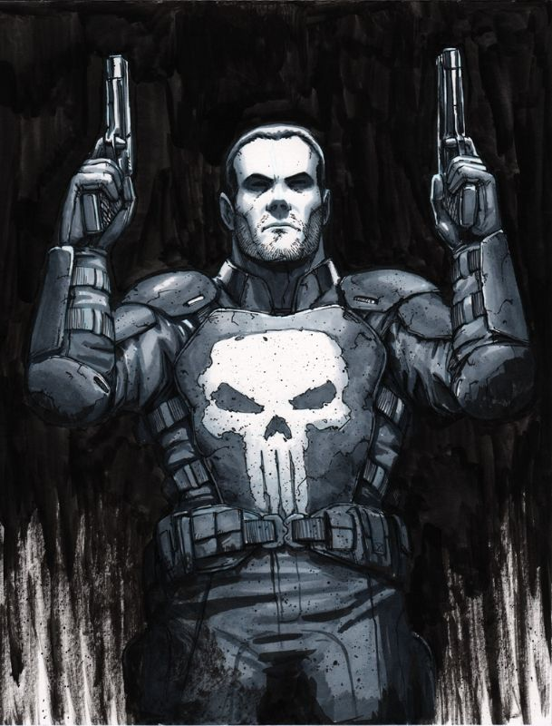 The Punisher - Tyler Walpole, left shoulder tat