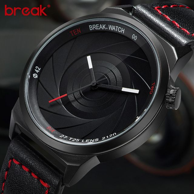 Buy now Break Brand New Original Design Photographer Series Unique Men Women Unisex Sport Simple Quartz Creative Fashion Casual Watches just only $22.34 - 23.32 with free shipping worldwide  #menwatches Plese click on picture to see our special price for you