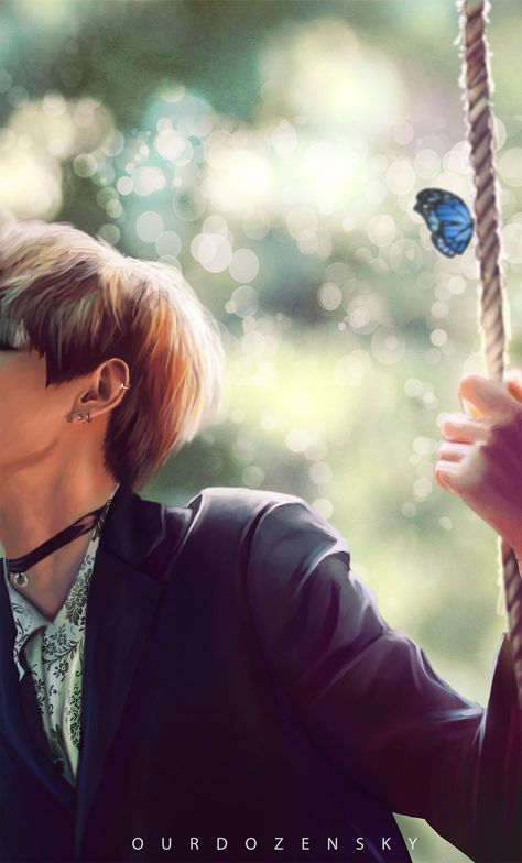 Vkook Cute Wallpaper Bts V Vintage Swings By Ourdozensky On Deviantart Bts 팬