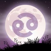 full moon with cancer zodiac symbol