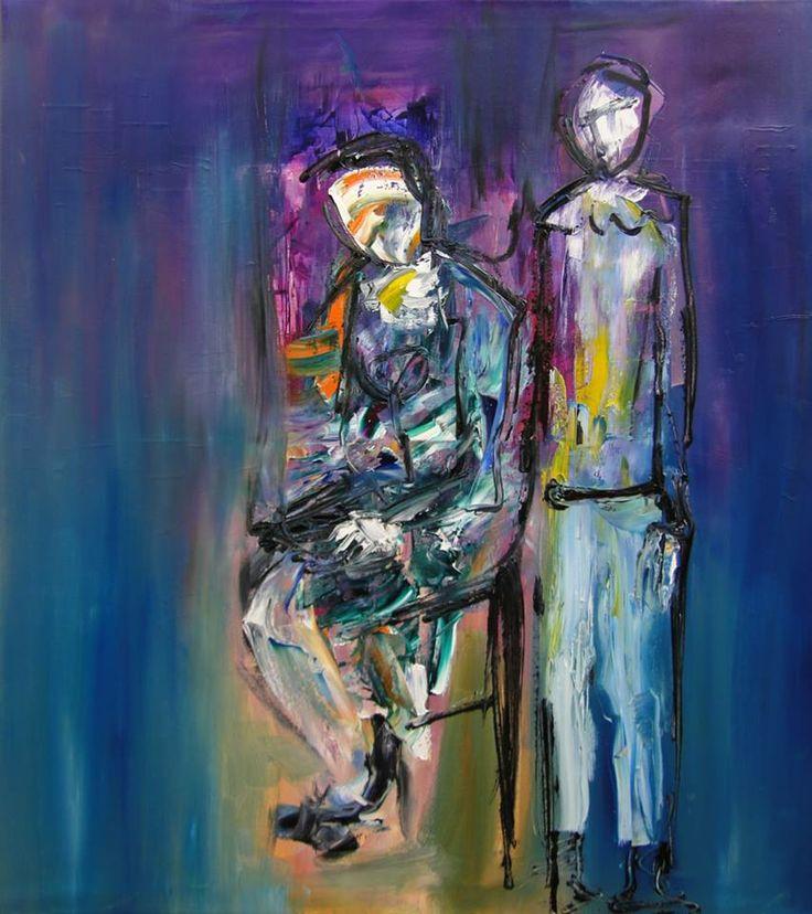 """""""Retrato"""" - Monica Medina - Oleo sobre tela - 90 x 80 cm www.esencialismo.com"""