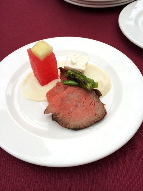 Canadian Beef #ExperienceCDNBeef by Noshing With The Nolands Top Sirloin with Watermelon, Feta and Lime, fantastic!!!! Who would of thought of those pairings with beef but beef is so versatile it goes with some many, many ingredients!! #KarismaExperience