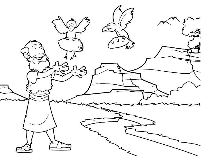 prophet elijah bible coloring pages - Elijah Bible Story Coloring Pages