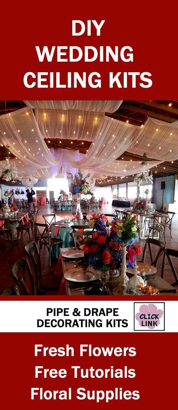 Wedding Reception Decoration Kits : Http wedding flowers and reception ideas ceiling decor diy