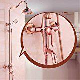 EIK Schwarz und Kupfer Bronze kontinentalen retro einstellbar Dusche Regen Dusche Brausearmatur set ORB schwarz: Amazon.de: Küche & Haushalt