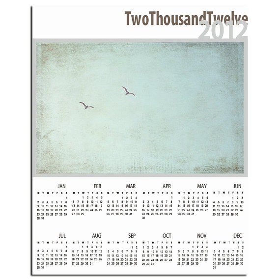 2012 Photo Calendar - Together in Flight - Wall Calendar (8x10), $12