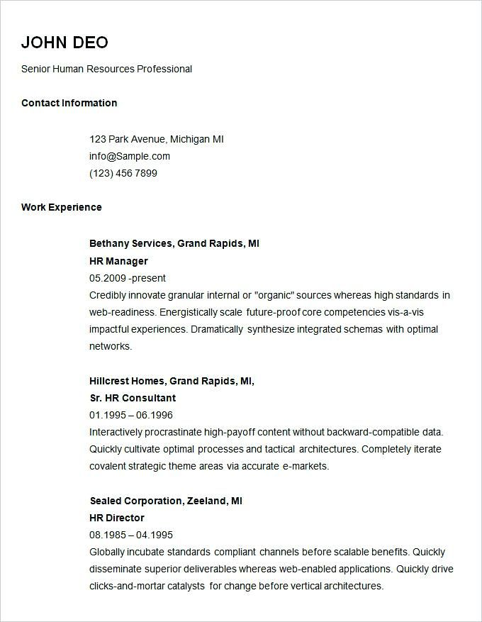 free resume templates for job application in 2020  basic