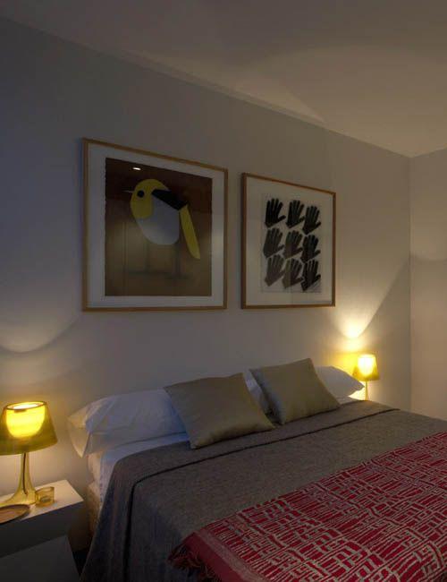 BELLEVUE HILL APARTMENT | alwill  #interiors #bedroom #artwork #bedsidelamp #cushions