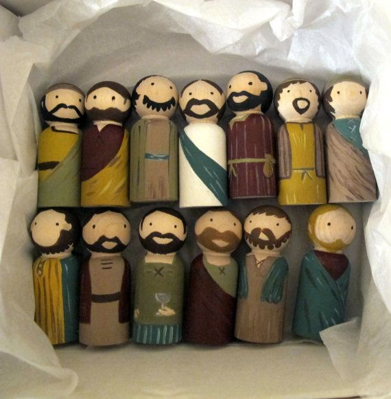 Hey, I found this really awesome Etsy listing at https://www.etsy.com/uk/listing/294495317/peg-dolls-the-last-supper-jesus-and-his