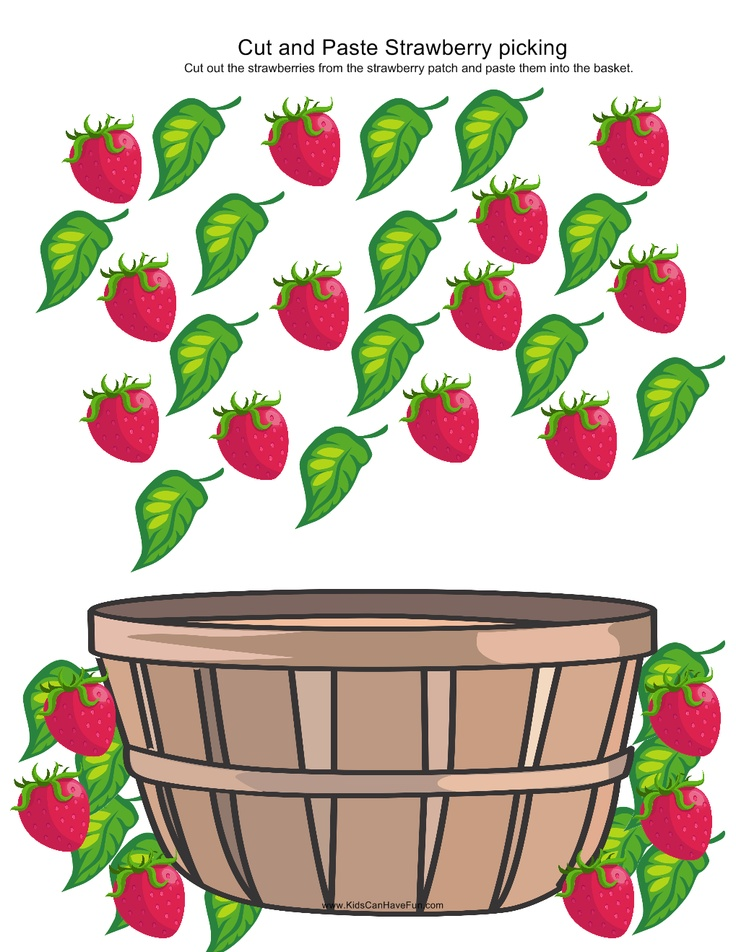 Cut and Paste Strawberry Patch