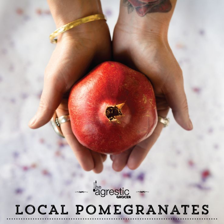 Locally grown pomegranates. A delicious start to our Pinterest account!