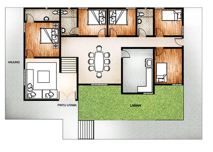 5 Bilik Tidur Floor Plan In 2018 Pinterest House Plans And