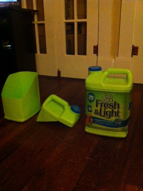 Recycled Cat Litter Containers Make General