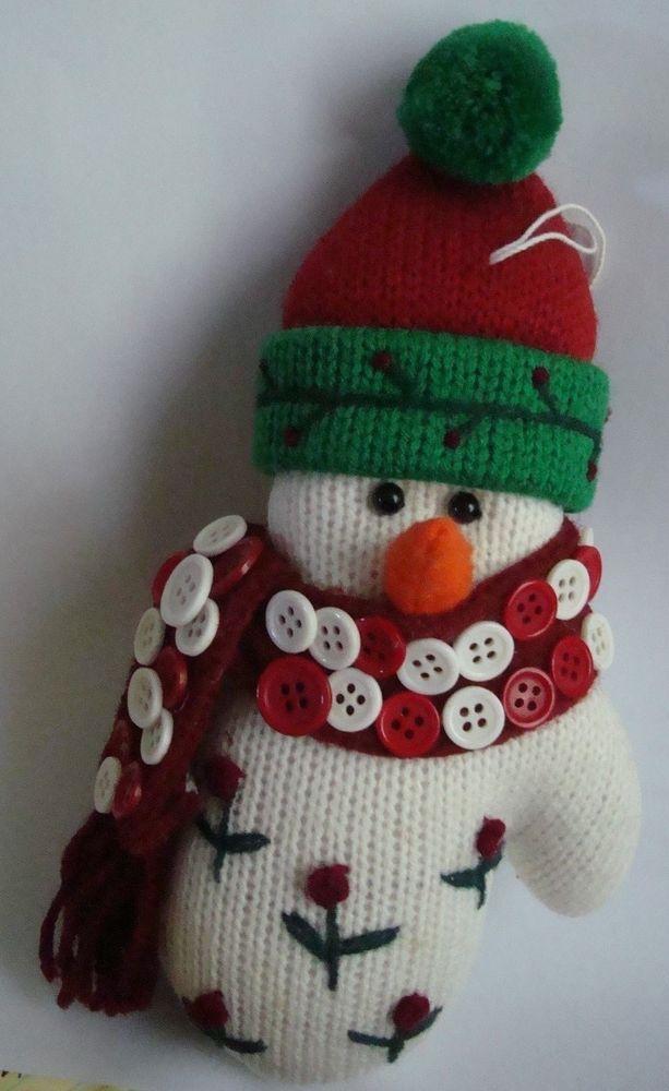 Vintage Snowman Christmas Tree Ornament White Re\u2026 eBay Seller
