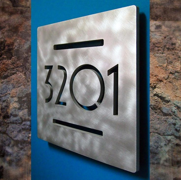 Best Contemporary House Numbers Ideas On Pinterest - Contemporary house numbers