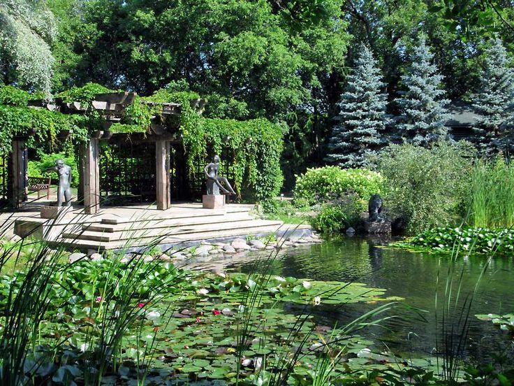The Leo Mol Sculpture Garden is a highlight of Assiniboine Park in Winnipeg, Manitoba, Canada.