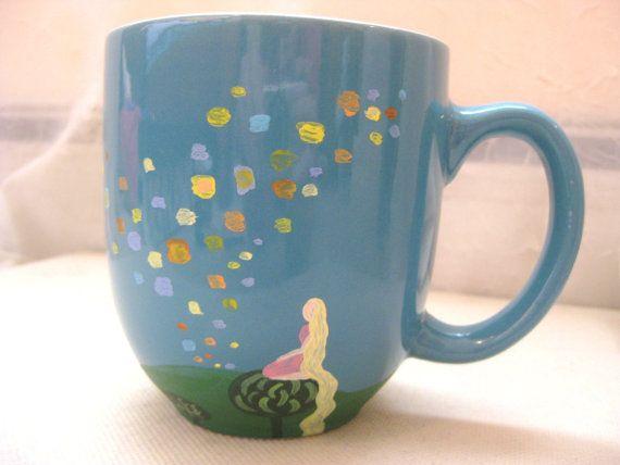 Tangled Floating Lanterns Mug  Next time I paint my own mug, etc, I'm going to do this...