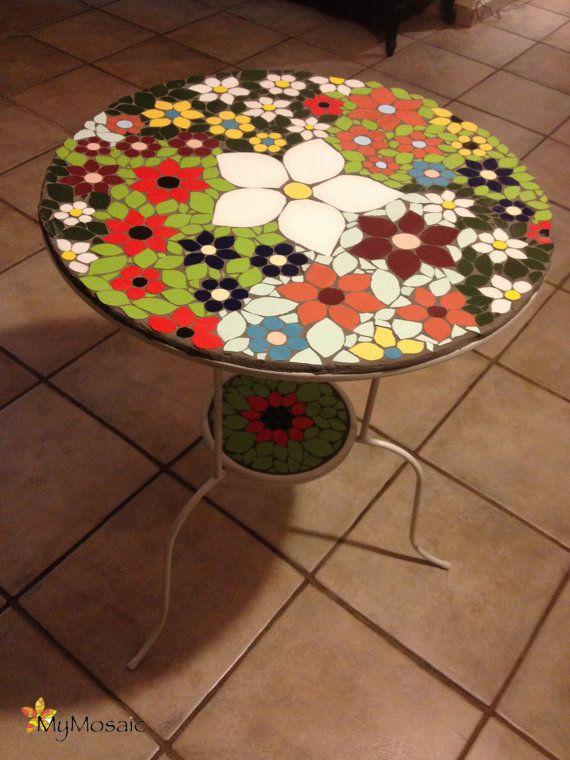 Mosaic Flower table