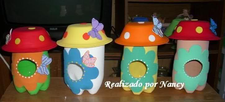 Dulceros botellas de plastico buscar con google - Manualidades con vasos de plastico ...