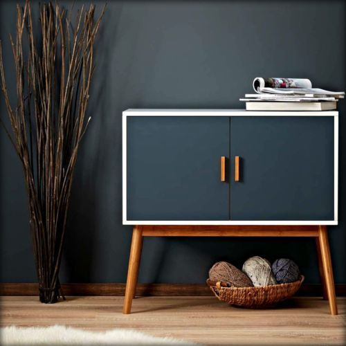retro look furniture. wooden storage display cabinet box chest retro modern vintage furniture bedroom look m